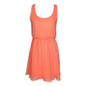 Lush Solid Pink Mini Dress Small